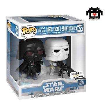 Star Wars El Imperio Contraataca-Darth Vader y Snowtrooper-40th