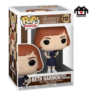 Queens Gambit - Beth Harmon con Trofeos - Hobby Con